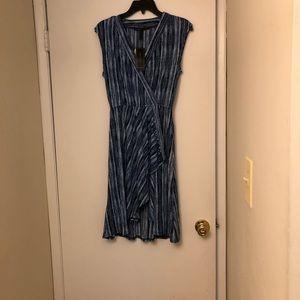 BCBGMaxazria Sleeveless Midi Wrap Dress XS